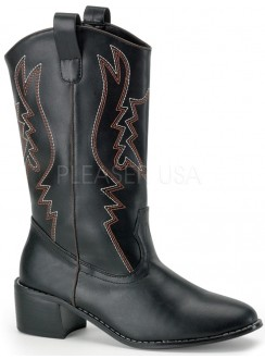 Cowboy Mens Black Western Boot Gothic Plus Gothic Clothing, Jewelry, Goth Shoes & Boots & Home Decor