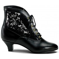 Victorian Dame Black Ankle Boot