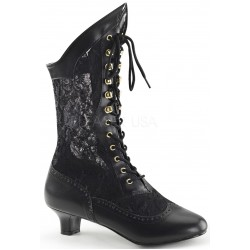 Victorian Dame Black Lace Boot Gothic Plus Gothic Clothing, Jewelry, Goth Shoes & Boots & Home Decor