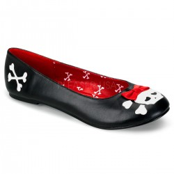 Skull and Crossbone Black Ballet Flat Gothic Plus Gothic Clothing, Jewelry, Goth Shoes & Boots & Home Decor