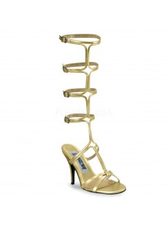 Roman Gold Gladiator Mule Sandal Gothic Plus Gothic Clothing, Jewelry, Goth Shoes & Boots & Home Decor