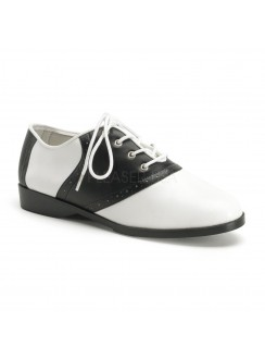 Saddle Shoe Black and White Womens Flat Oxford Gothic Plus Gothic Clothing, Jewelry, Goth Shoes & Boots & Home Decor
