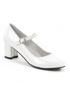 Schoolgirl White Mary Jane Pump Gothic Plus Gothic Clothing, Jewelry, Goth Shoes & Boots & Home Decor