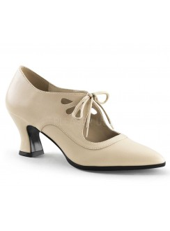 Victorian Cream Cut Out Womens Pump Gothic Plus Gothic Clothing, Jewelry, Goth Shoes & Boots & Home Decor