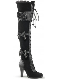 Glam Victorian Lace Gothic Over the Knee Boot Gothic Plus Gothic Clothing, Jewelry, Goth Shoes & Boots & Home Decor