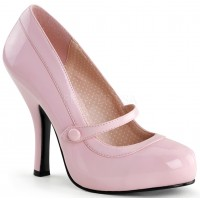 Cutie Pie Baby Pink Mary Jane Pin Up Pumps