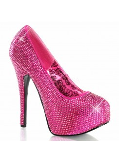 Teeze Hot Pink Rhinestone Platform Pump Gothic Plus Gothic Clothing, Jewelry, Goth Shoes & Boots & Home Decor