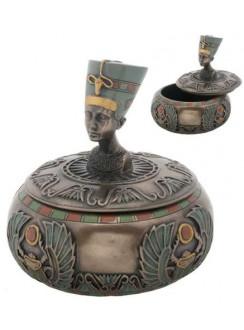 Nefertiti Egyptian Round Trinket Box Gothic Plus Gothic Clothing, Jewelry, Goth Shoes & Boots & Home Decor