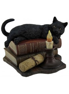 Witching Hour Black Cat Statue Gothic Plus Gothic Clothing, Jewelry, Goth Shoes & Boots & Home Decor