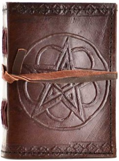 Pentagram Leather Pocket Size Journal Gothic Plus Gothic Clothing, Jewelry, Goth Shoes & Boots & Home Decor