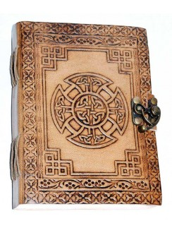 Celtic Cross Leather Blank 7 Inch Journal with Latch Gothic Plus Gothic Clothing, Jewelry, Goth Shoes & Boots & Home Decor
