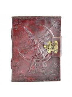 Fairy Moon 8 Inch Leather Journal with Latch Gothic Plus Gothic Clothing, Jewelry, Goth Shoes & Boots & Home Decor