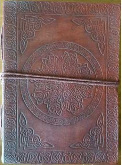 Celtic Mandala Leather Journal Gothic Plus Gothic Clothing, Jewelry, Goth Shoes & Boots & Home Decor