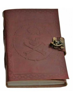 Skull and Bones Leather Journal Gothic Plus Gothic Clothing, Jewelry, Goth Shoes & Boots & Home Decor