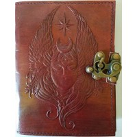Moon Goddess 7 Inch Leather Journal with Latch