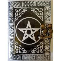 Pentacle Black and Silver Book of Shadows Journal with Latch