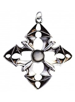 A Flight of Bats Arcanus Necklace Gothic Plus Gothic Clothing, Jewelry, Goth Shoes & Boots & Home Decor