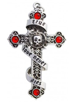 Infinitas Eternal Love Cross Necklace Gothic Plus Gothic Clothing, Jewelry, Goth Shoes & Boots & Home Decor