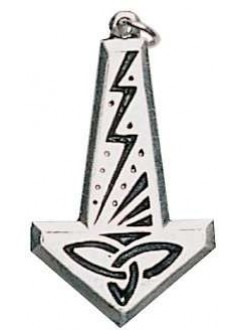 Thors Hammer with Lightning Bolt Pendant Gothic Plus Gothic Clothing, Jewelry, Goth Shoes & Boots & Home Decor