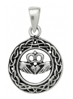 Celtic Claddagh Sterling Silver Pendant for Love Gothic Plus Gothic Clothing, Jewelry, Goth Shoes & Boots & Home Decor