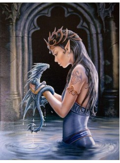 Water Dragon Canvas Art Print Gothic Plus Gothic Clothing, Jewelry, Goth Shoes & Boots & Home Decor