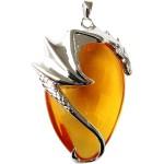 Basking Draca Crystal Keeper Dragon Necklace