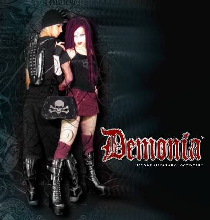gothic plus is an authorized dealer for Demonia Gothic Shoes and Boots for men and women