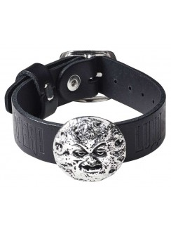 Man in the Moon Gothic Leather Strap Bracelet Gothic Plus Gothic Clothing, Jewelry, Goth Shoes & Boots & Home Decor