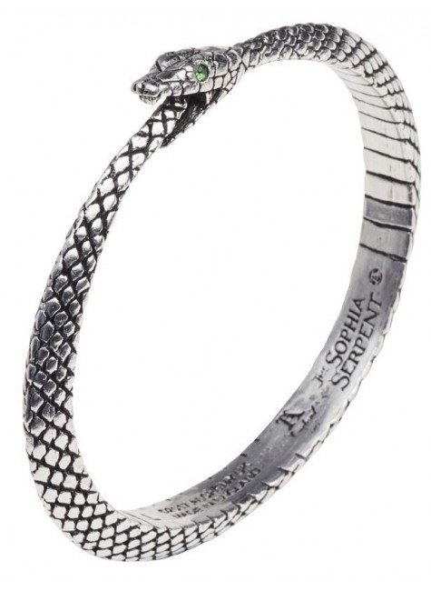 Sophia Serpent Ouroborus Pewter Bangle Bracelet at Gothic Plus, Gothic Clothing, Jewelry, Goth Shoes & Boots & Home Decor