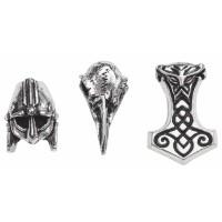 Norsebraid Beads/Beard Rings Set of 3