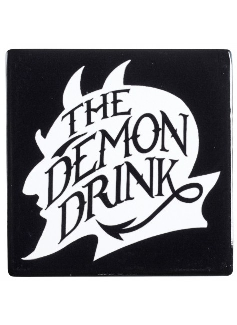 Demon Drink Ceramic Coaster at Gothic Plus, Gothic Clothing, Jewelry, Goth Shoes & Boots & Home Decor