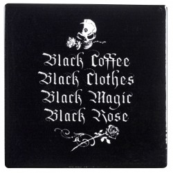Gothic Coffee Lovers Ceramic Coaster Gothic Plus Gothic Clothing, Jewelry, Goth Shoes & Boots & Home Decor