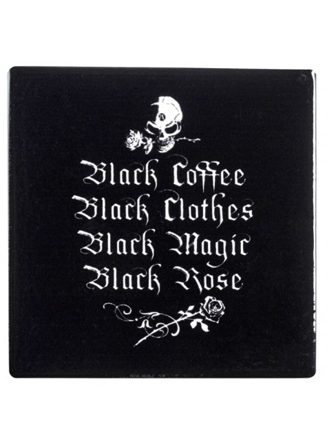 Gothic Coffee Lovers Ceramic Coaster at Gothic Plus, Gothic Clothing, Jewelry, Goth Shoes & Boots & Home Decor