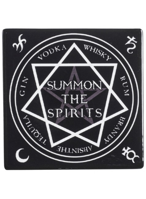 Summon the Spirits Ceramic Coaster at Gothic Plus, Gothic Clothing, Jewelry, Goth Shoes & Boots & Home Decor
