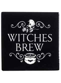 Witches Brew Ceramic Coaster Gothic Plus Gothic Clothing, Jewelry, Goth Shoes & Boots & Home Decor