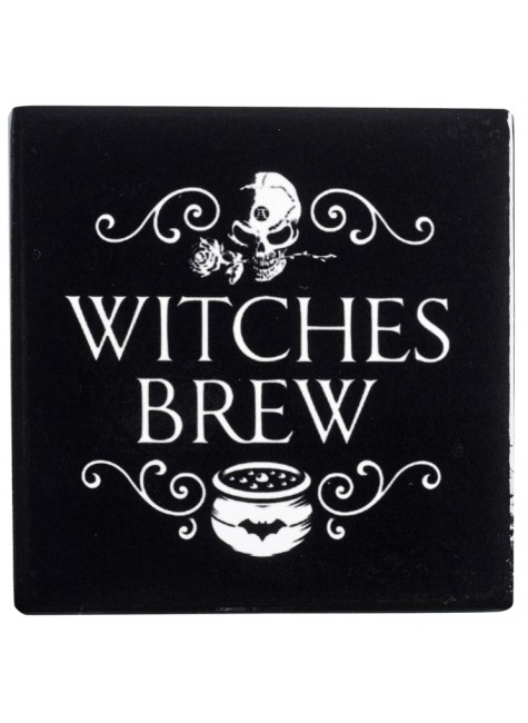 Witches Brew Ceramic Coaster at Gothic Plus, Gothic Clothing, Jewelry, Goth Shoes & Boots & Home Decor