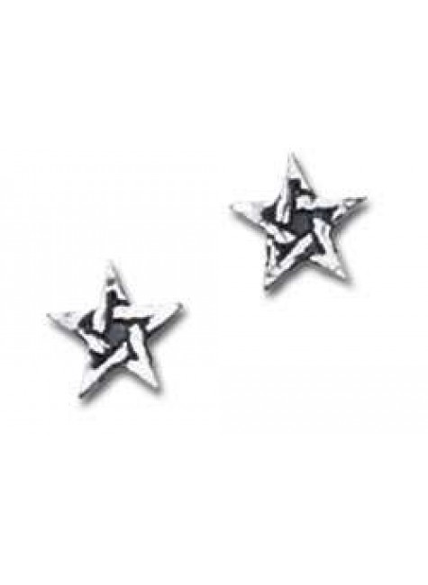 Pentagram Stud Pewter Earrings at Gothic Plus, Gothic Clothing, Jewelry, Goth Shoes & Boots & Home Decor