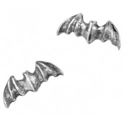 Bat Stud Pewter Earrings Gothic Plus  Gothic Clothing, Jewelry, Goth Shoes, Boots & Home Decor