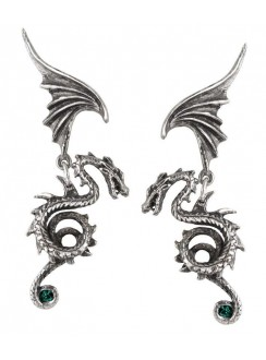Bestia Regalis Dragon Earring Pair Gothic Plus Gothic Clothing, Jewelry, Goth Shoes & Boots & Home Decor