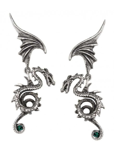 Bestia Regalis Dragon Earring Pair at Gothic Plus, Gothic Clothing, Jewelry, Goth Shoes & Boots & Home Decor
