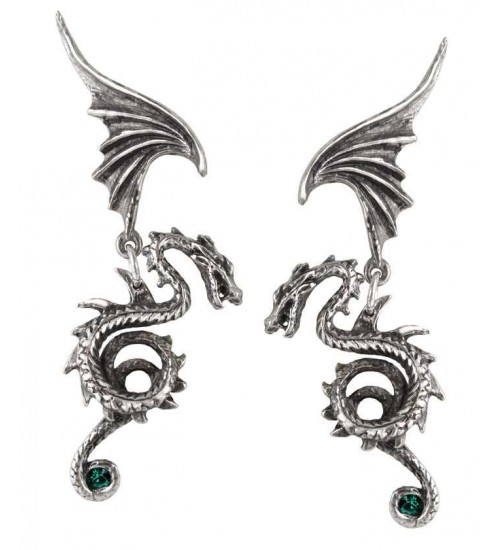 Bestia Regalis Dragon Earring Pair at Gothic Plus,  Gothic Clothing, Jewelry, Goth Shoes, Boots & Home Decor