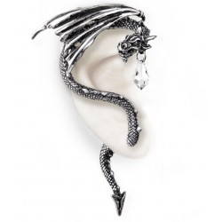 Crystal Dragon Ear Wrap Gothic Plus Gothic Clothing, Jewelry, Goth Shoes & Boots & Home Decor