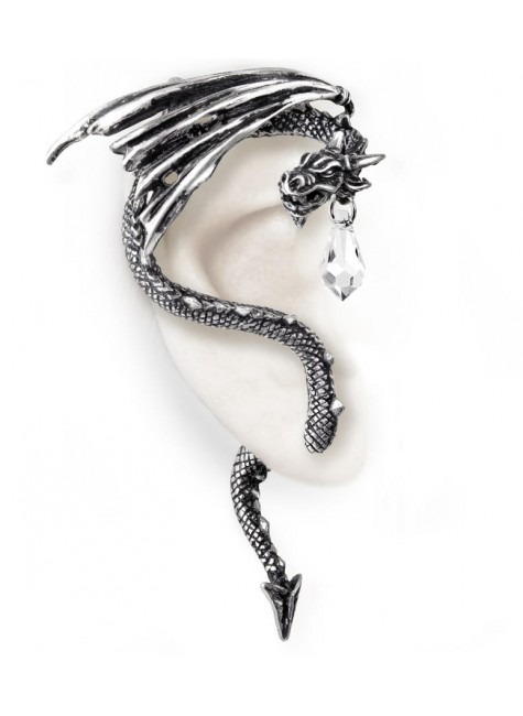 Crystal Dragon Ear Wrap at Gothic Plus,  Gothic Clothing, Jewelry, Goth Shoes, Boots & Home Decor