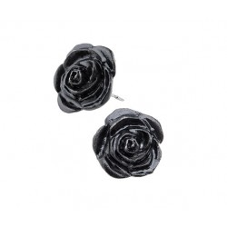 Black Rose Stud Earrings Gothic Plus  Gothic Clothing, Jewelry, Goth Shoes, Boots & Home Decor