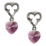 Elizabethan Crystal Heart Earrings