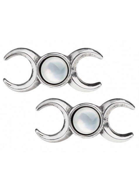 Triple Goddess Stud Earrings at Gothic Plus, Gothic Clothing, Jewelry, Goth Shoes & Boots & Home Decor