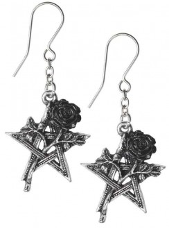 Ruah Vered Pentacle Rose Gothic Earrings Gothic Plus Gothic Clothing, Jewelry, Goth Shoes & Boots & Home Decor