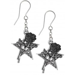 Ruah Vered Pentacle Rose Gothic Earrings Gothic Plus  Gothic Clothing, Jewelry, Goth Shoes, Boots & Home Decor