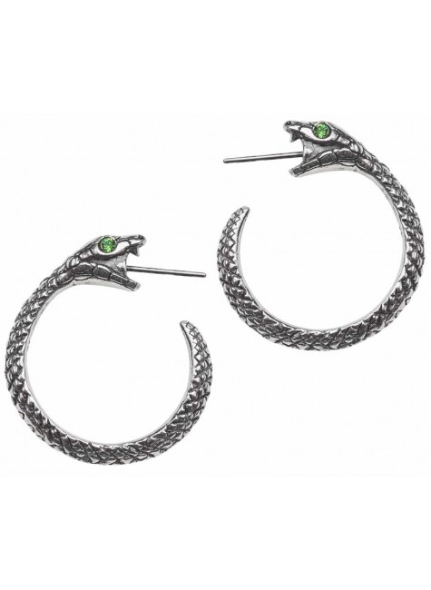 Sophia Serpent Ouroborus Earrings at Gothic Plus, Gothic Clothing, Jewelry, Goth Shoes & Boots & Home Decor