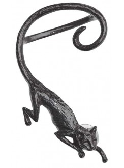 Black Cat Sith Earwrap Earring